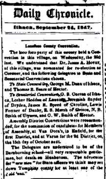 1847 Poco Loco conference article Van Dorn Tavern w banner