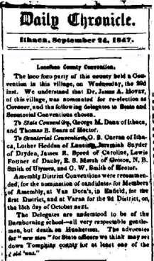 1847 Poco Loco conference article Van Dorn Tavern w banner
